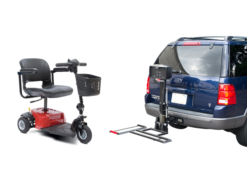 AmeriGlide Traveler Companion Vehicle Lift / Scooter Package