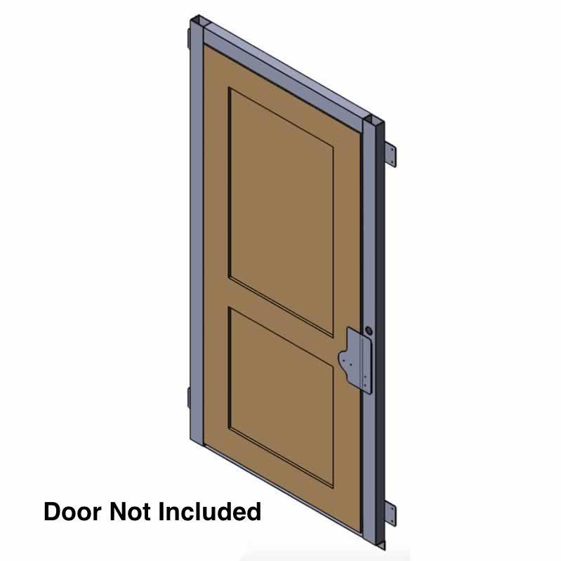 AmeriGlide Flush Mount Aluminum Door Jamb with Interlock on